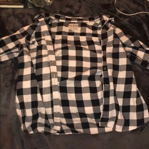 Old Navy black and white flannel